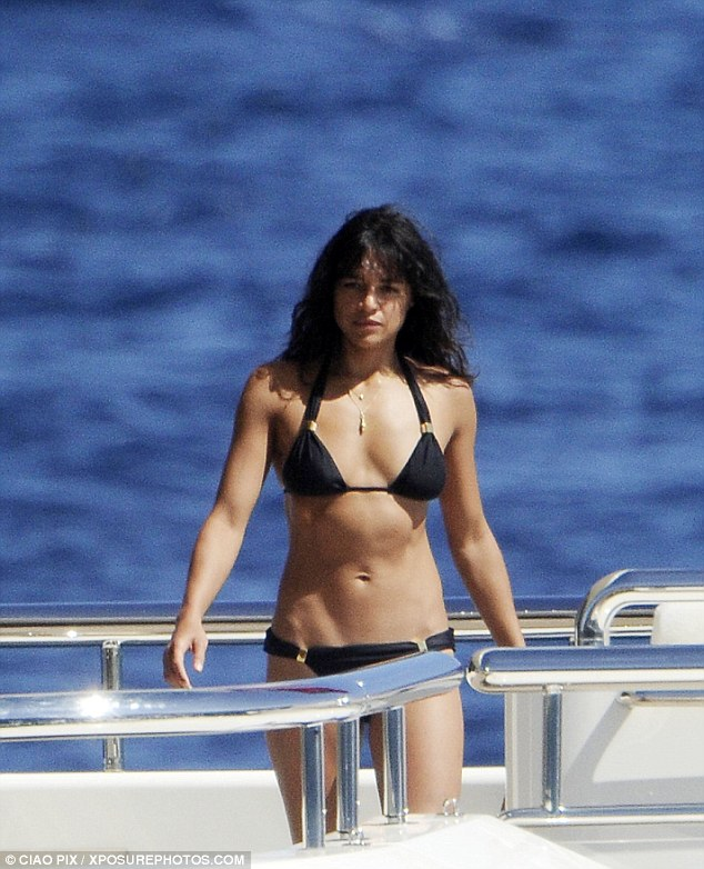 Model ex: Michelle was previously romantically linked to British model Cara Delevigne
