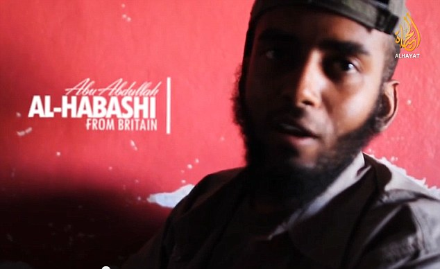 Face of ISIS: Al-Habashi appeared on a video this weekend where he criticised democracy and demanded Sharia law