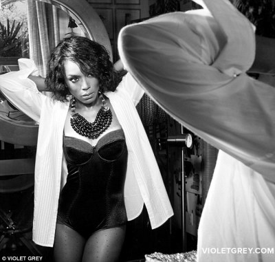 Fabulous at 55: Angela Bassett posed for Violet Grey's online magazine, The Violet Files