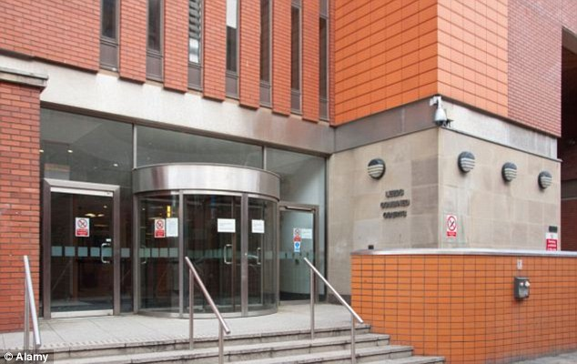 Leeds Crown Court heard how social services spoke to the boy about the allegation and that six blue-coloured bruises were found on the side of his knee
