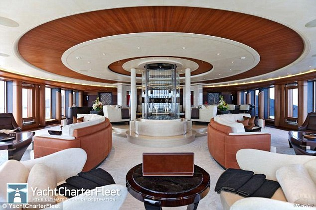 Opulence: The state room of The Serene is capable of hosting huge parties and guests of billionaires