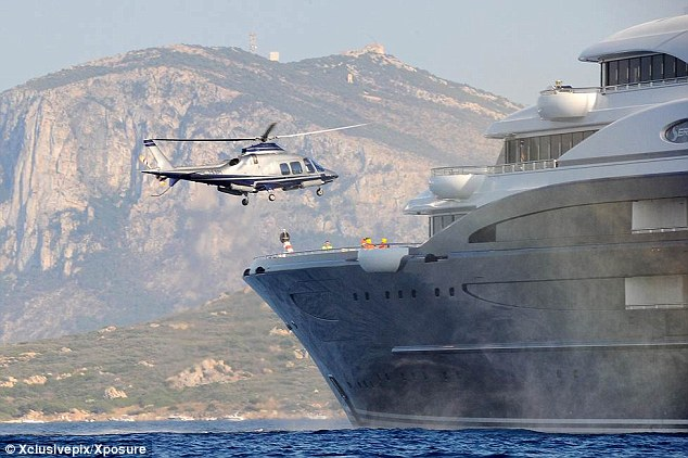 Style: Bill Gates returns to The Serene, the $330 million yacht he has chartered for $5 million-a-week. Currently moored off the coast of Sardinia, Italy