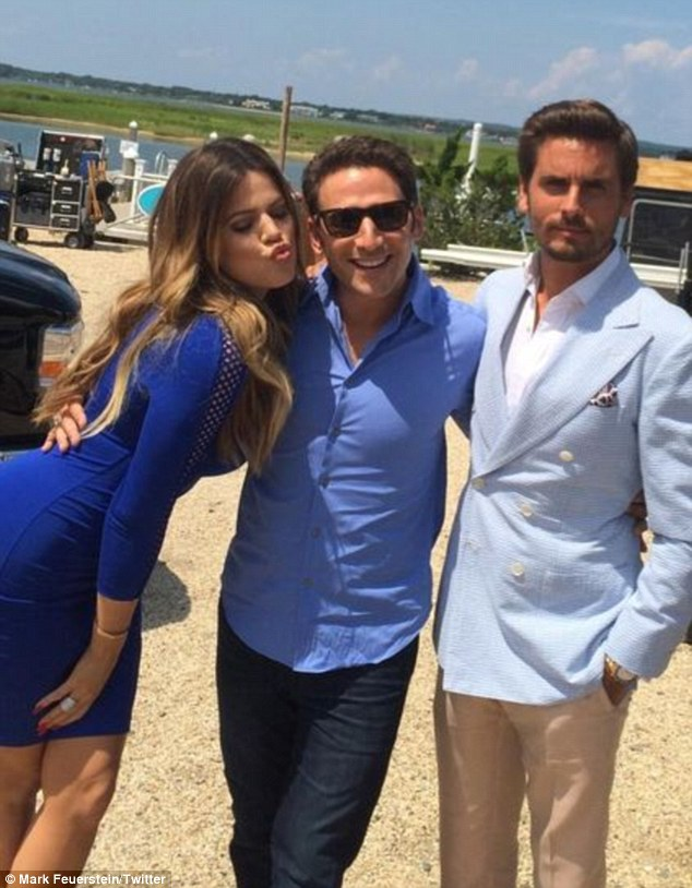 'A star is born in the Hamptons!' Meanwhile, her younger sister Khloe and partner of seven years were on the set of medical drama Royal Pains alongside Mark Feuerstein