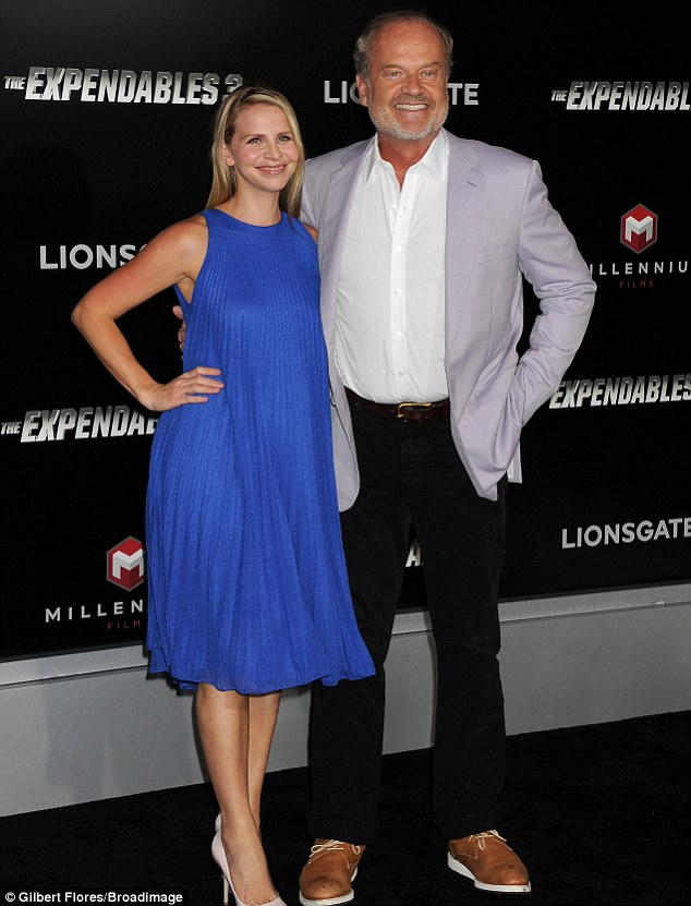 Husband and wife: Kelsey Grammer took his wife Kayte Walsh to see his latest movie