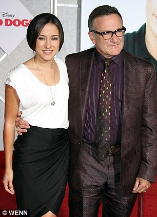 Loss: Robin Williams with his son Cody Williams (pictured in 2007) and with his daughter Zelda Williams (right) in 2011