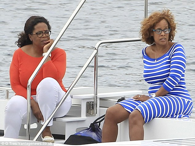 No boys allowed! Oprah Winfrey and her BFF Gayle King enjoy a girls only holiday together in Ibiza on Friday