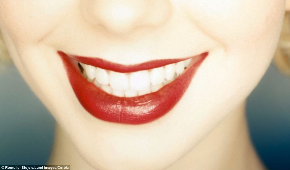 Red lipstick (pictured) often includes insects and most long-lasting hues feature a chemical compound called eosin, which subtly changes colour when it is applied to the lips. The dye reacts with the amine groups found in proteins in the skin, which makes it long-lasting