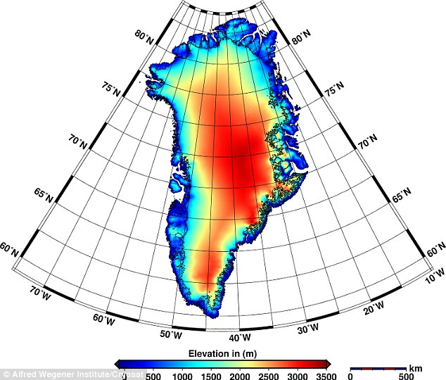 The maps reveal that Greenland is now losing about 90 cu miles (375 cu km) of ice each year.The discovery was made using the first ever maps of elevation changes in Greenlandic and Antarctic glaciers