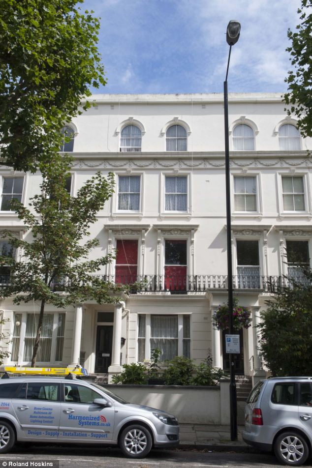 Family home: Bary - an aspiring rapper - lived with his mother Ragaa for more than a decade in this £1million home in Maida Vale, West London, owned by Westminster Council