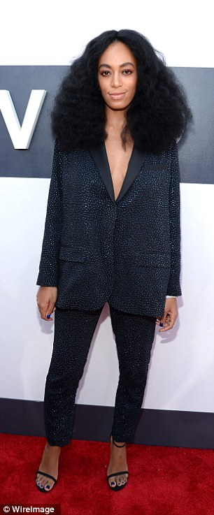 On their own: Solange and Beyonce didn't walk the red carpet together