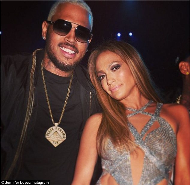Quick recovery: Chris Brown appeared relaxed despite the shooting which occurred at his pre-VMA party on Saturday