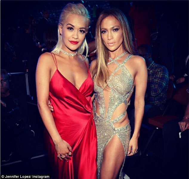 Celebrity BFFs: Jennifer Lopez was the queen of Instagram on Sunday night,posting pictures of herself with many celebrities including Rita Ora