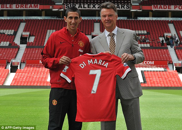 Good s: Di Maria started for United at Burnley on Saturday and was in fine form before being substituted