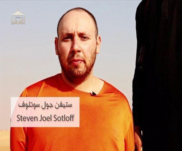 Murder: American journalist Steven Sotloff pictured in an ISIS video before he was executed. He was killed two weeks after James Foley died in the same way