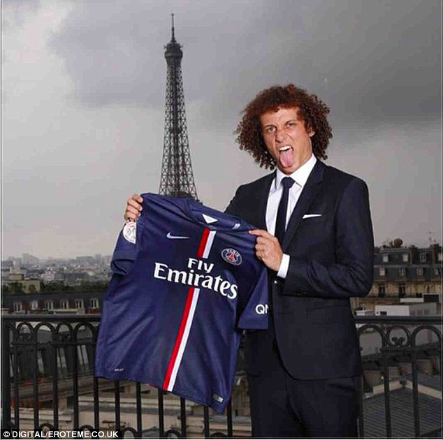 Erratic: Luiz created a shock by moving to Paris but was clearly not a part of Jose Mourinho's plans at Chelsea