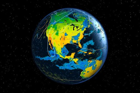 Watch the weather around the world LIVE on a 3D globe   Daily Mail     Data is pulled live from a forecast model by the European Centre for  Medium Range
