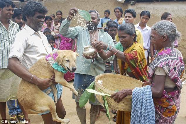 Tradition: Rituals being performed during the wedding in the remote village