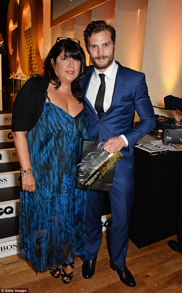 Star night: Fifty Shades Of Grey author E L James presented  Jamie Dornan the Vertu Breakthrough