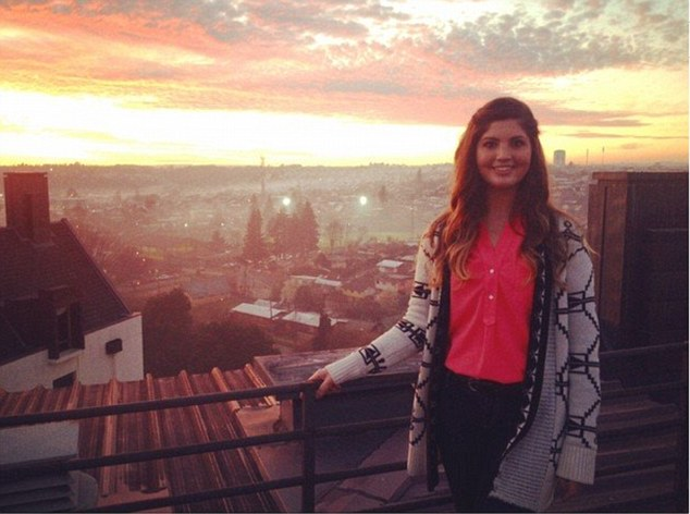 Do-gooder: Hagan went to Chile (pictured) in July to work as a teaching assistant in English for six months