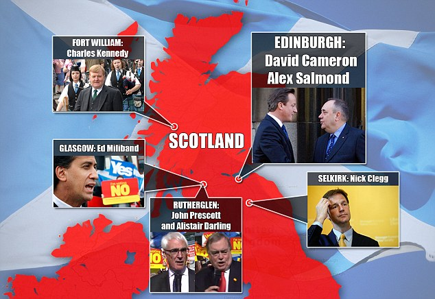 Senior politicians from all the main parties campaigning across Scotland, ozara gossip