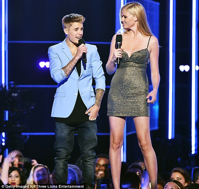 Fully dressed: Justin quickly told Lara that he was only comfortable in his Calvins