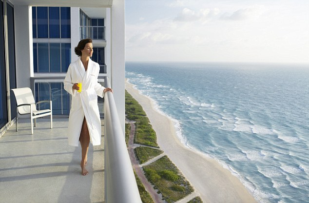 A lot to enjoy: The resort sits in a pristine position on the edge of the Atlantic on Miami Beach