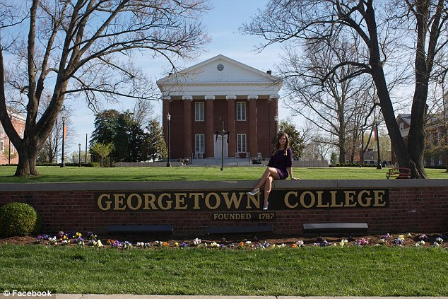 Well-educated: Hagan, 22, graduated from Georgetown College in Kentucky earlier this year