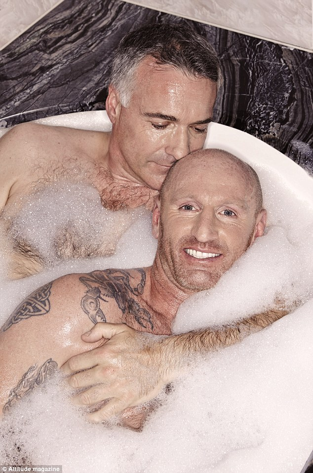 Gareth Thomas and Ian Baum, Attitude magazine, bath photo shoot, ozara gossip