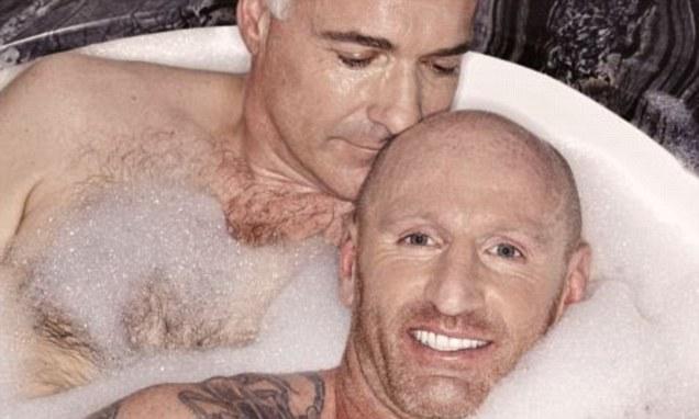 Gareth Thomas Poses For Bubble Bath Photo Shoot With