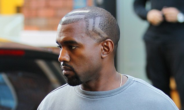 Oh Yeezus Kanye West Shows Off Freshly Shaved Hairstyle