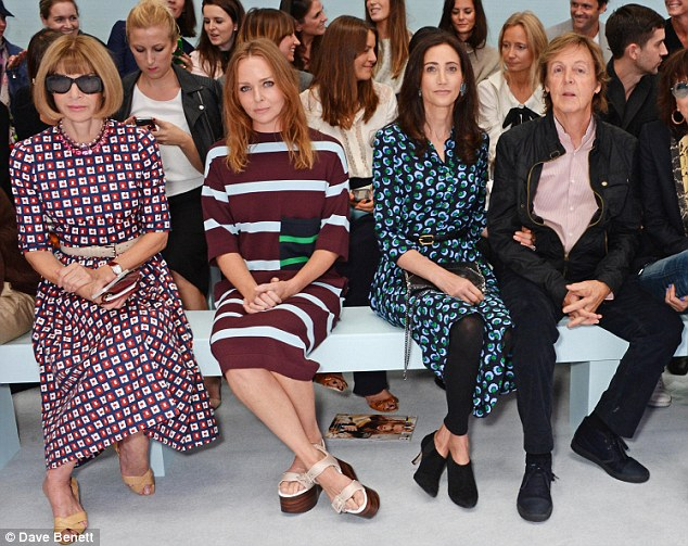 Turning older in style: Stella McCartney marked her 43rd birthday on the front row of the Hunter Originals Spring/Summer show on Saturday