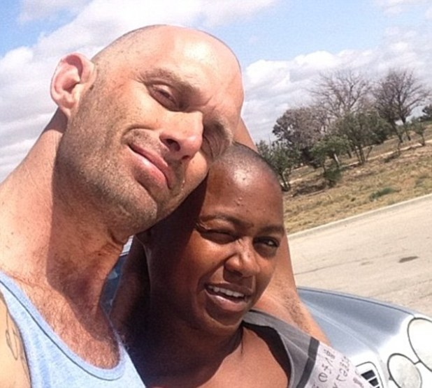 Watts and her husband pose for a photo on her Facebook page. He posted the social media network that he thought that the person who called the police had decided they looked like a prostitute and a client