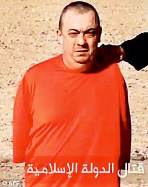 Terrorism: The father-of-two appeared in the video (pictured after the beheading of aid worker David Haines