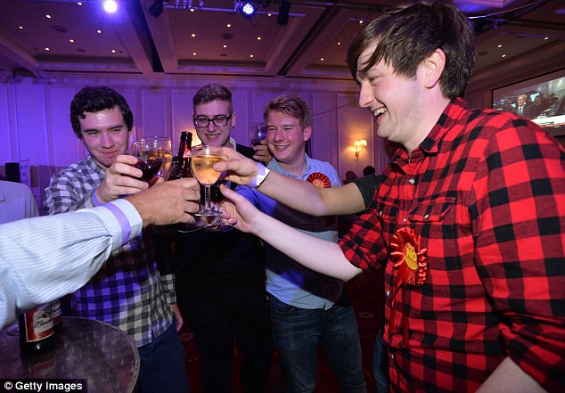 Better Together campaigners celebrate the Clackmannanshire No result at the Marriott Hotel