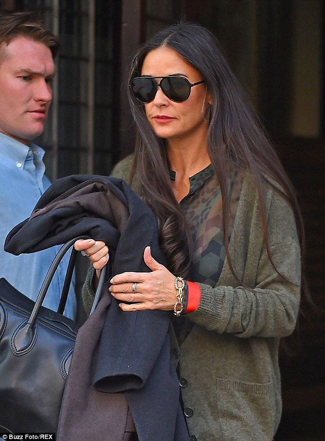 Demi Moore Reveals Greying Locks As She Steps Out In New