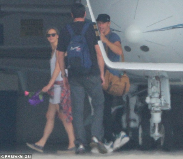 Their first time: Jennifer Lawrence and Chris Martin were spotted together for the first time in LA on Saturday
