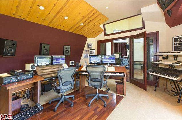 In home studio: A recording studio  was among one of the rooms in the property
