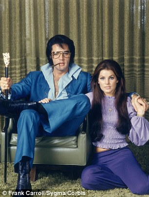 Elvis and Priscilla pose for a photo taken in Beverly Hills in 1969
