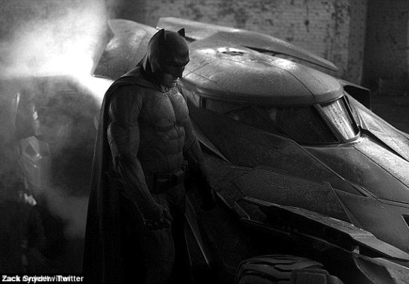 New body: Ben has gained 30 lbs of muscle to play Batman