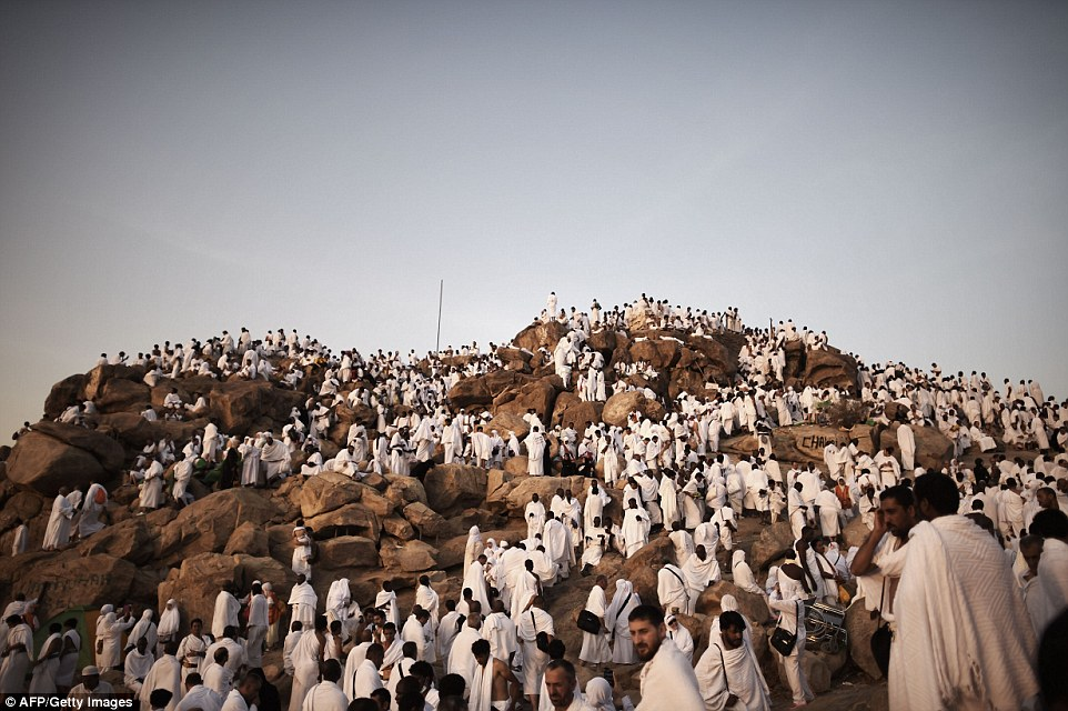 Emotional: Tears flowed and prayers filled the air as the annual Muslim hajj by about 2 million believers from around the world reached its zenith on a vast plain in western Saudi Arabia