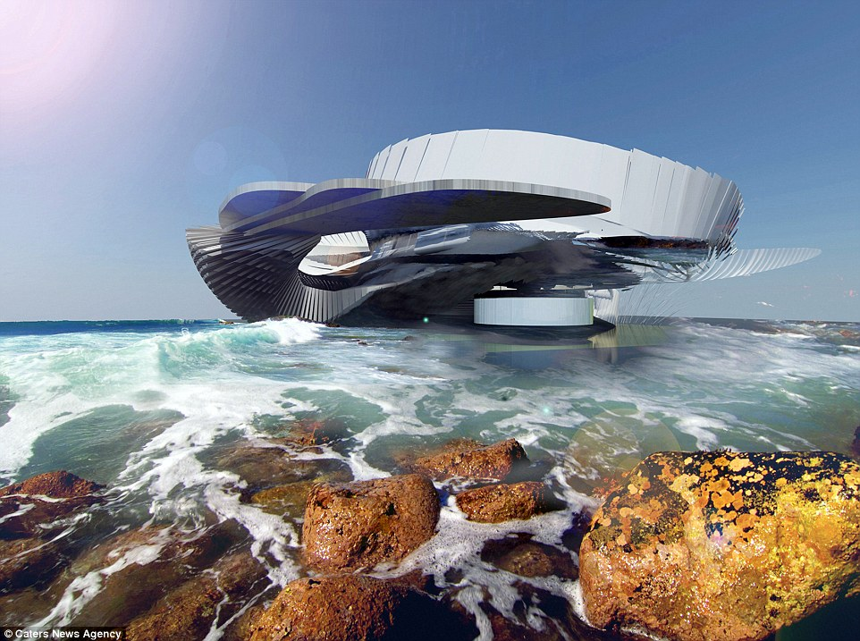 A London-based architect has been making waves in the design industry with her design of a stunning home powered by hydroelectricity. Margot Krasojevic's concept, Hydroelectric Tidal House, aims to harness the consistent and powerful movement of waves to generate energy