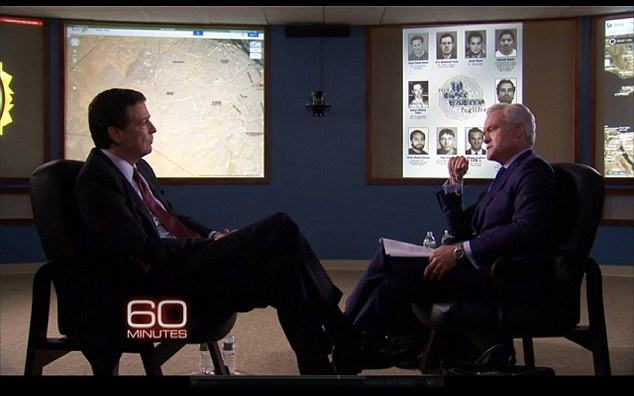 Questioning: When interviewer Scott Pelley asked Comey whether he knew who the Americans fighting with the extremists were, he replied simply saying 'Yes'