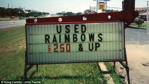 This sign in Rome, Georgia, has us asking: how much do new rainbows go for?