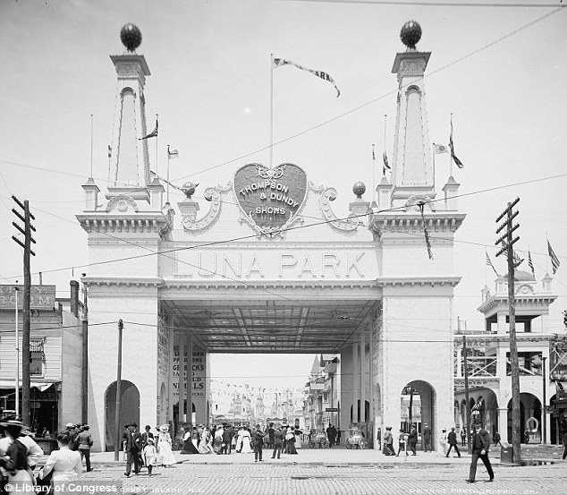 A hit:The tribe's success at Luna Park was fueled by the tall tales and publicity genius of Hunt who managed to plant stories about the 'head hunting, dog eating savages' in newspapers coast to coast