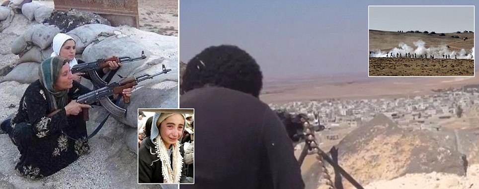 Women and children take up arms against isis | ozara gossip