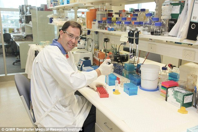 The study led by Dr Glen Boyle (pictured) found a single injection of the drug EBC-46 led to rapid breakdown of a range of tumors which could be effective in human patients