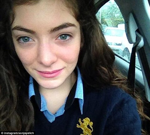 One year ago: A fresh faced Ella Yelich-O'Connor in her school uniform before she became Grammy award winning artist, Lorde