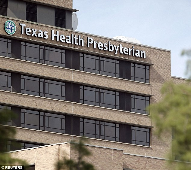 Texas Health Presbyterian hospital, where Ebola victim Thomas Eric Duncan was admitted. The healthcare worker tested positive despite having worn protective gear