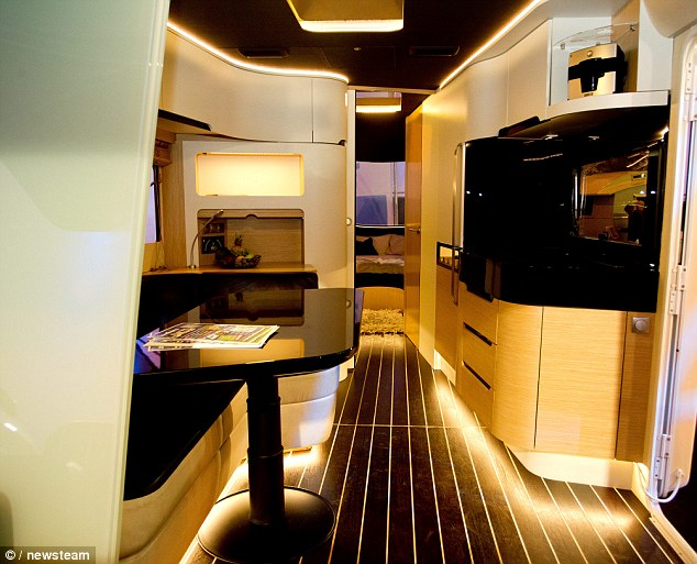 Caravisio Caravan Features Cinema Touch Screen Shower And