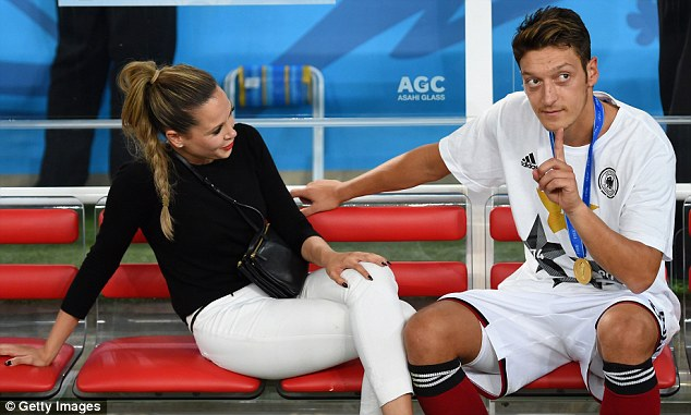 1413393932247_Image_galleryImage_RIO_DE_JANEIRO_BRAZIL_JUL Mesut Ozil accused of cheating on girlfriend Mandy Capristo with Melanie Rickinger by ex-Bayern Munich player Christian Lell